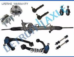 11pc Complete Hydraulic Power Steering Rack and Pinion Suspension Kit 4x4 ABS