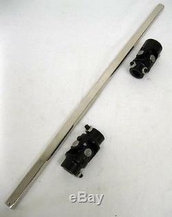 16 3/4 DD Universal Plated Steering Shaft + U-Joint Kit Mustang II Power Rack