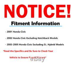 2001 2002 2003 2004 2005 Honda Civic Power Steering Rack & Pinion Tie Rods Kit