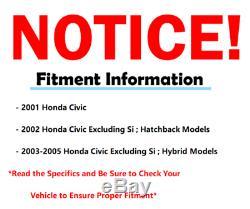 2001-2003 2004 2005 Honda Civic Front Rack & Pinion Wheel Bearing Suspension Kit