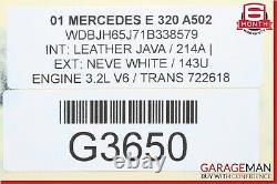 96-02 Mercedes W210 E300 E430 Power Steering Gear Rack & Pinion Assembly OEM