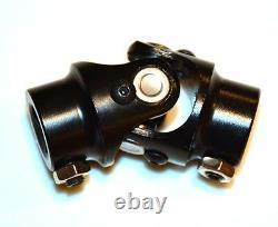 BLACK Steering Shaft Power Ford Mustang II Rack U-Joint 3/4 DD x 3/4-36