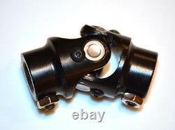 BLACK Steering Shaft Power Rack U-Joint 3/4 DD x 3/4-36 3/4-36 Mustang Ford