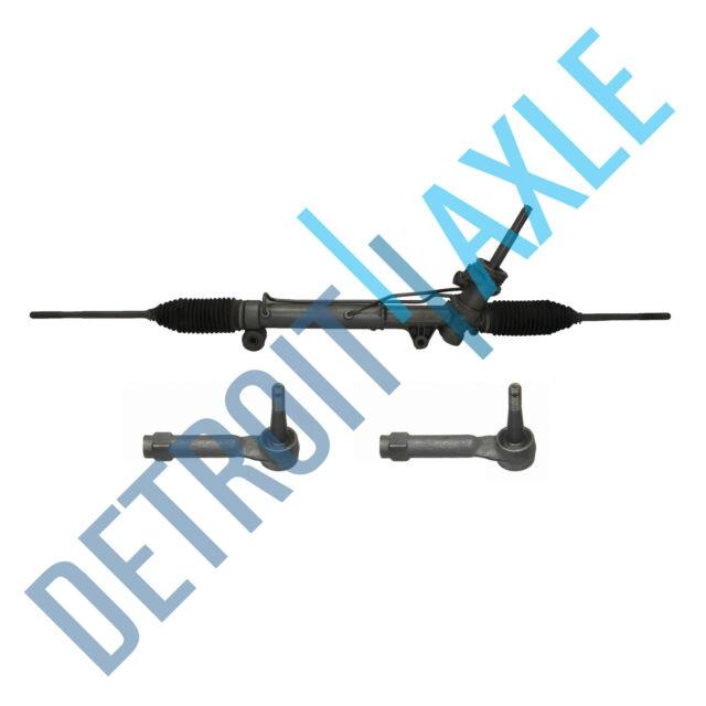 Complete Power Steering Rack And Pinion + 2 New Outer Tie Rod Fwd Only
