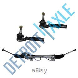Complete Power Steering Rack and Pinion Assembly + 2 New Outer Tie Rods 2WD