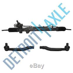 Complete Power Steering Rack and Pinion + Both Outer Tie Rods for Honda Acura V6