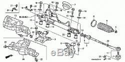 Honda Cr-v 2007 2,2 Diesel Power Steering Rack Swy-e0 Showa 53601-swy-e01 Rhd