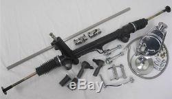 Mustang II 2 Power Rack & Pinion Steering + Pump Hoses Shaft Kit Bolts Tie Rod +