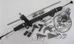 Mustang II 2 Power Rack & Pinion Steering + Pump Hoses Shaft Kit Tie Rod Bolts +