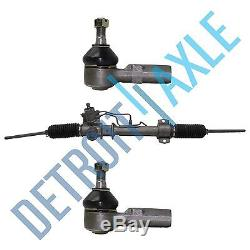 Power Steering Rack & Pinion + 2 NEW Outer Tie Rod Ends for Toyota Camry Avalon