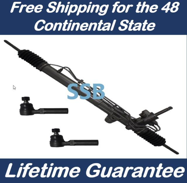 Power Steering Rack And Pinion For Mustang 2005-2010 + Outer Tie Rod Ends