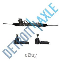 Seville Deville Complete Power Steering Rack and Pinion + 2 NEW Outer Tie Rods
