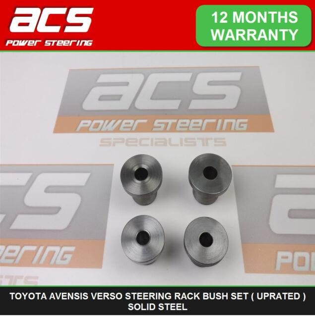 Toyota Avensis Verso Power Steering Rack Bushes Set (uprated) Solid Steel
