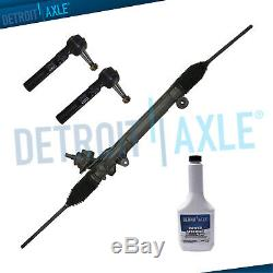 Uplander Terraza Relay 4pc Complete Power Steering Rack and Pinion Outer TieRods